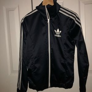 Womens adidas navy blue jacket size small